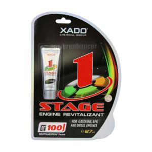 XADO 1 Stage Engine Revitalizantlà sản phẩm được thiết kế giúp khôi phục, tái tạo và bảo vệ chống mài mòn cho động cơ chạy xăng, LPG và diesel mà không cần rã máy..