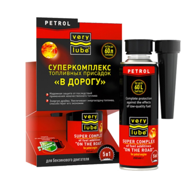 """Phụ gia xăng """"5 in 1"""" XADO VERYLUBE Super complex of fuel additives """"ON THE ROAD"""""""